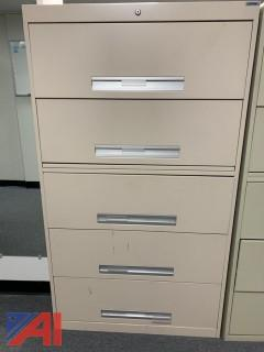 File Cabinets and Metal Housing Unit w/Shelving