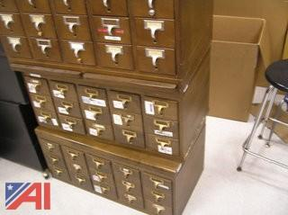 Library Card Cabinets