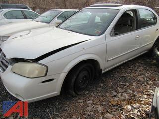**Sold for Parts ONLY** 2001 Nissan Maxima 4 Door