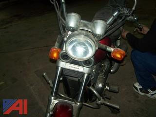 1985 Honda Shadow 500 Motorcycle