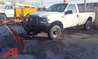 2002 Ford F250 XL Super Duty Pickup Truck & Plow