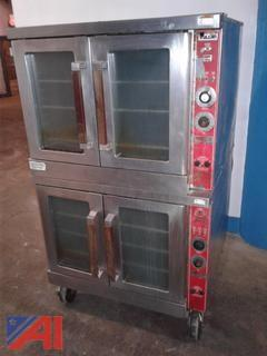 Vulcan Double Stacked Commercial Kitchen Oven