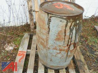 Antique 55 Gallon Riveted Barrel