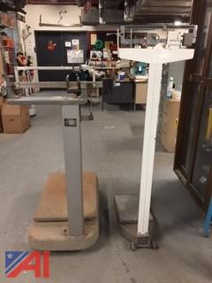 (#20) Detecto Doctor Type Scale and Hobart Freight Scale (1100 pound capacity)