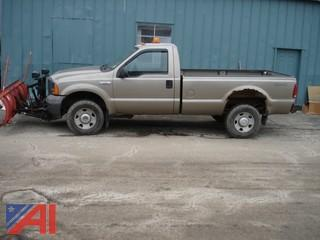 2005 Ford F250 XL Super Duty Pickup with Plow
