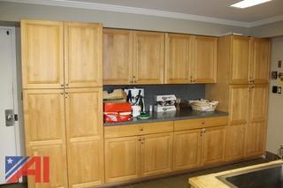 Full kitchen Oak Cabinets