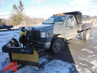 2005 Ford F350 XL Super Duty Dump Truck with Plow & Sander