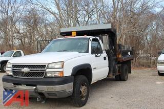 2005 Chevy Silverado 3500 Dump Truck
