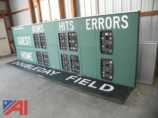 Cooperstown's Hall of Fame Doubleday Field Baseball Scoreboards w/ Controller