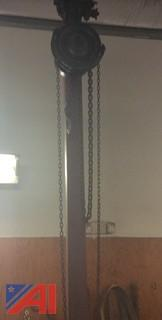 Yale 1 1/2 Ton Chain Fall, Model #BB