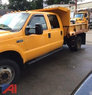 2002 Ford F550 4 Door Pickup with Dump Body