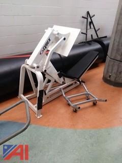 Cybex Leg Press, Free Weight