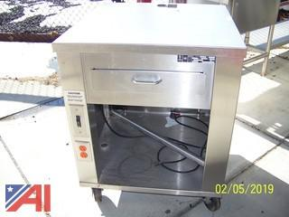 Stainless Steel Serving Line End with Cabinets & Outlets For Cash Register
