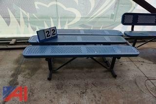 "6' x 11 1/2"" Rubber Coated Benches"