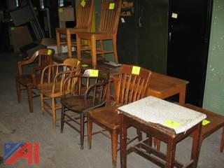 Oak Chairs and Tables