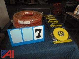 Surplus Air Hose and Tape Measures