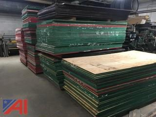"Sheets of 3/4"" Exterior Grade Plywood"