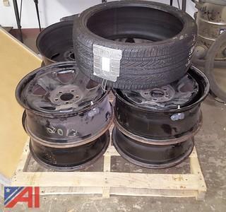 Assorted Rims & Tire