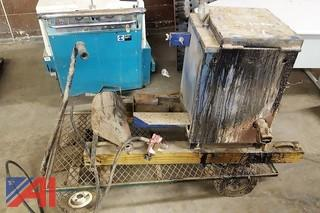 Asphalt Crack Pot & Wheeled Car