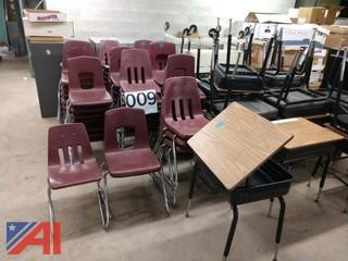 Assorted Chairs and Desks