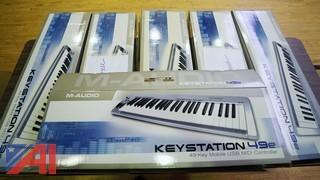 New M-Audio Keystation 49e USB MIDI Controller Keyboards