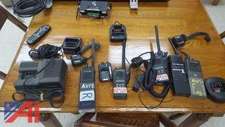 Various Low Band Portable Radios & Chargers