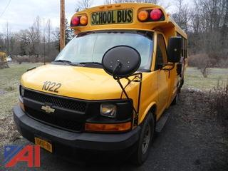 (1022) 2010 Chevrolet Express G3500 Mini School Bus