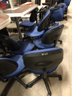 KI Arm-less Pneumatic Height Adjustable Chairs