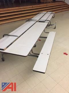 12' Cafeteria Tables with Attached Bench Seating