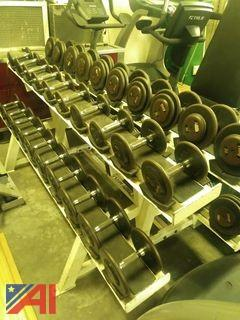 Body Masters Dumbell Rack with Dumbells, 5-70 lbs