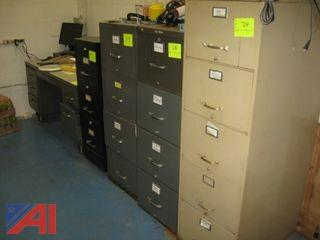 Filing Cabinets and Desk