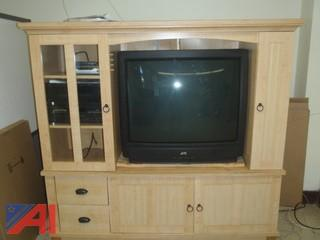 (#42) Wooden Entertainment Cabinet