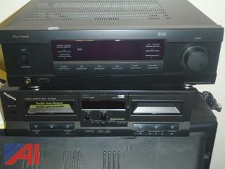(#44) Sherwood Receiver & Cassette Deck