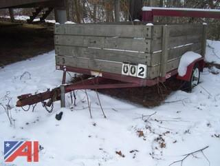 **Lot Updated** 1998 Haulin 5x8 Wood Deck Trailer