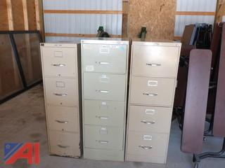 (#1501) Metal File and Storage Cabinets