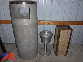 (#1503) Waste Container/Cigarette Ashtray