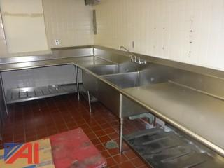(#1506) Large Commercial Stainless Steel Sink