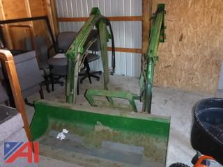 **UPDATED** (#1509) 2002 John Deere 420 Front Loader Bucket Attachment