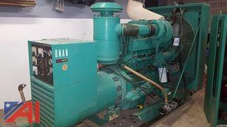 1981 Onan 155 DFE Generator with Transfer Switch & Attachments