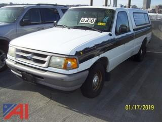 1997 Ford Ranger Pickup Truck with Cap