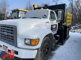 1995 Ford F800 Flatbed Truck