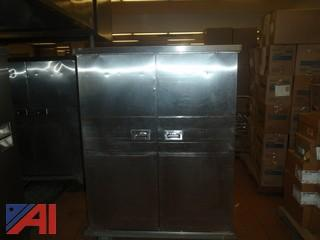 (#49) Stainless Steel Food Storage Cabinet