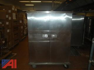 (#51) Stainless Steel Food Storage Cabinet