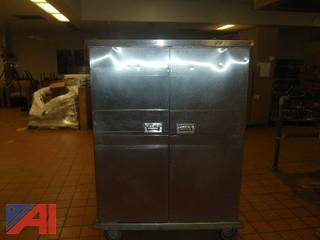 (#52) Stainless Steel Food Storage Cabinet
