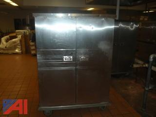 (#53) Stainless Steel Food Storage Cabinet
