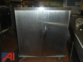 (#56) Stainless Steel Food Storage Cabinet