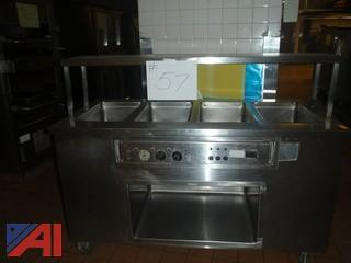 (#57) Stainless Steel Food Serving Station