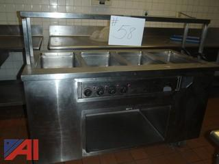 (#58) Stainless Steel Food Serving Station
