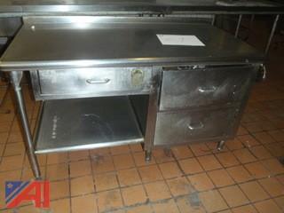 (#61) Stainless Steel Kitchen Desk