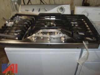 "GE Stainless Steel 36"" Built-In Gas Cooktop"
